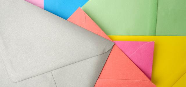 封筒の形状にこだわる