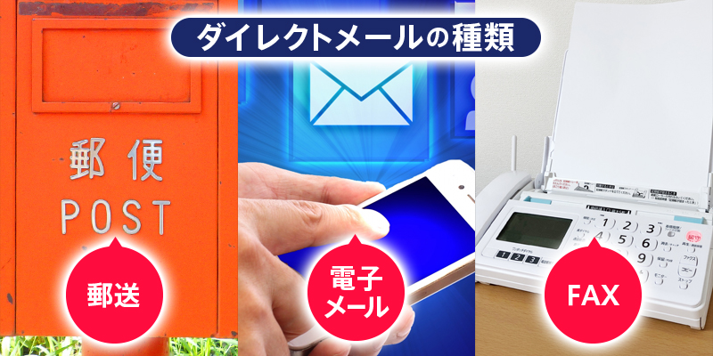 DM(ダイレクトメール)を送る方法は、大きく分けて3つ